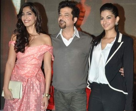 Anil Kapoor with his daughters