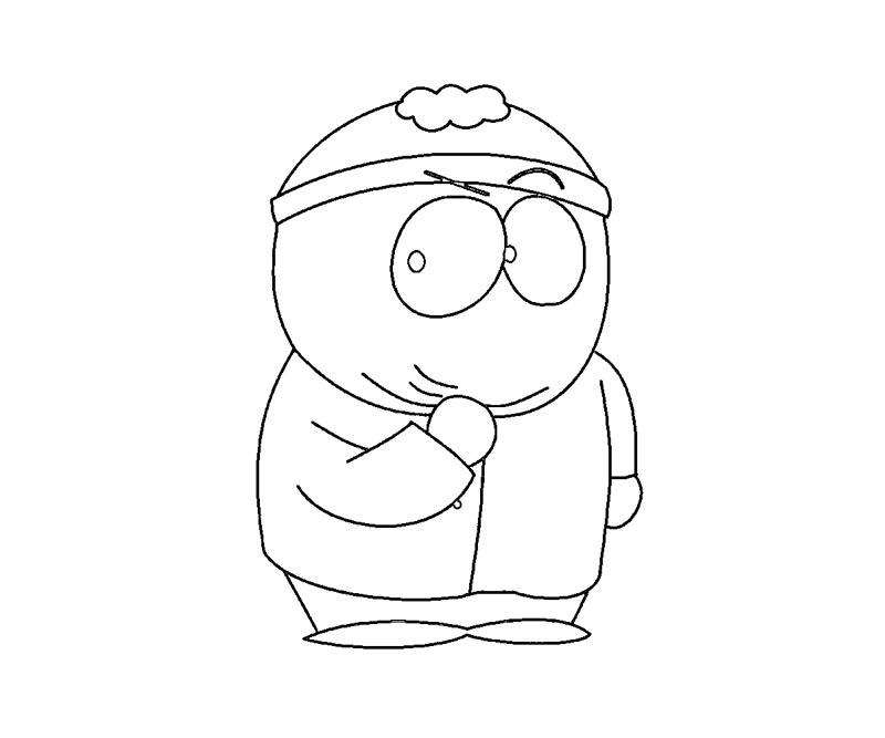 cartman south park coloring pages - photo#25