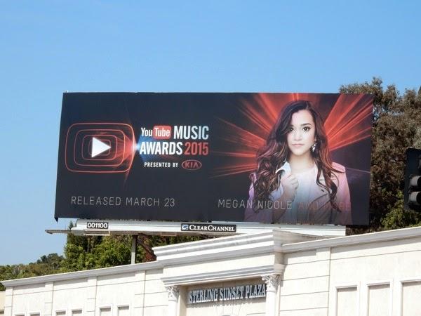 Megan Nicole 2015 YouTube Music Awards billboard