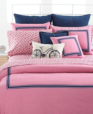 Tommy Hilfiger Pink Oxford Collection Down Comforter