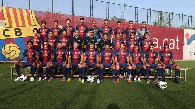 Plantilla y foto oficial del Barcelona 2012-2013