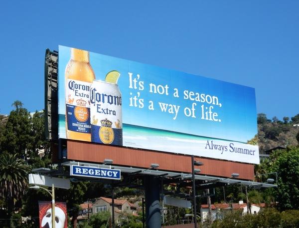 Corona Extra It's not a season it's a way of life billboard