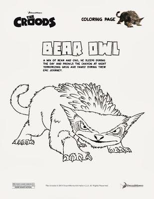 Los Croods para dibujar y colorear