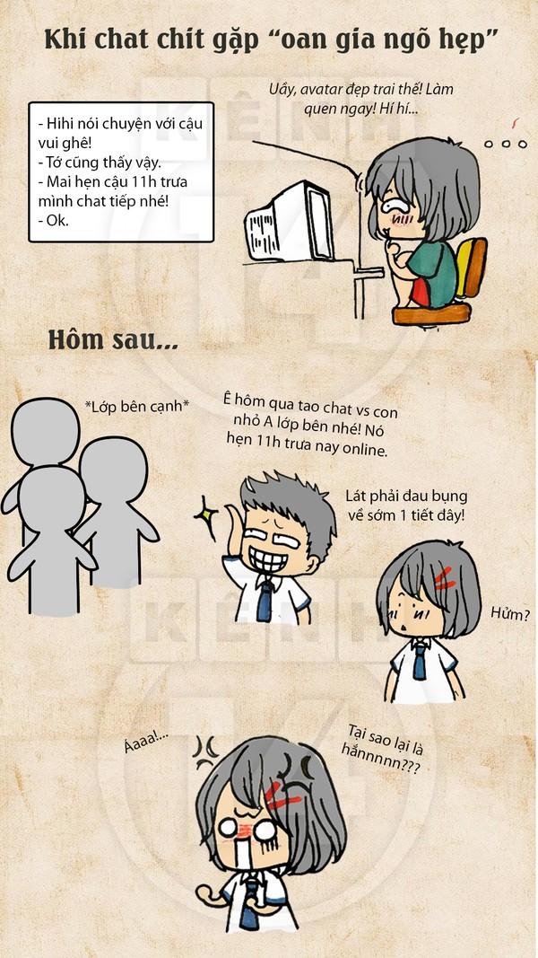 Truyện tranh hài thời chat chit tiệm net 4