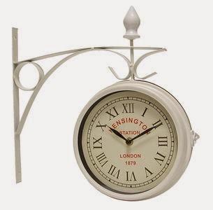 reloj estación blanco doble cara