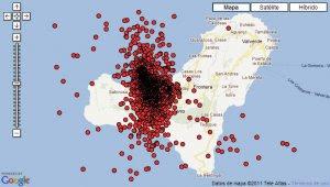 actividad sismica en isla El Hierro, septiembre 2011