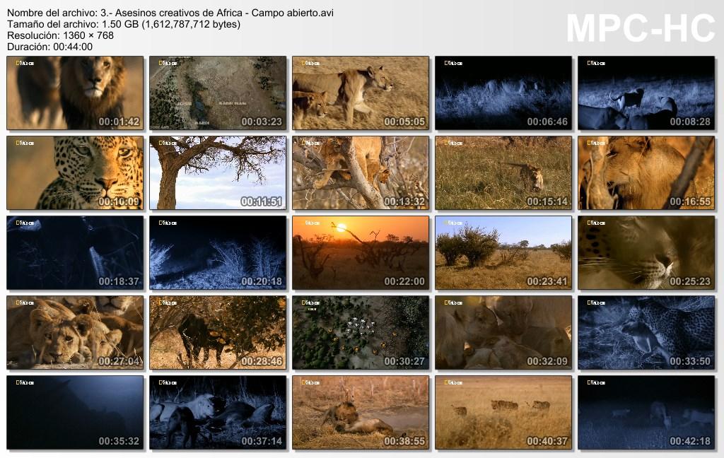 4GB|NATGEO|Asesinos de África|3-3|HDRip|720p|MEGA