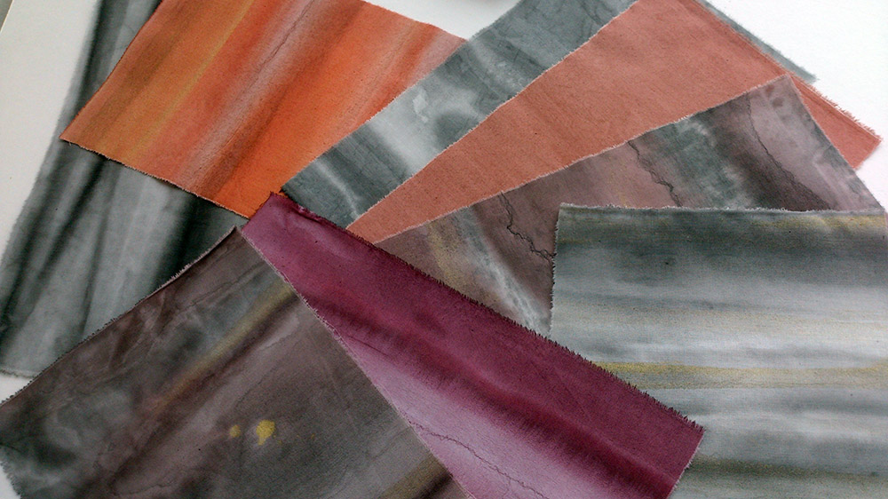 hand painted fabric by Quilt Routes