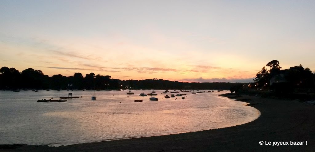 Bretagne - Odet - coucher de soleil