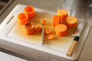 sütőtök henger kiszúró vájó kanál kés deszka