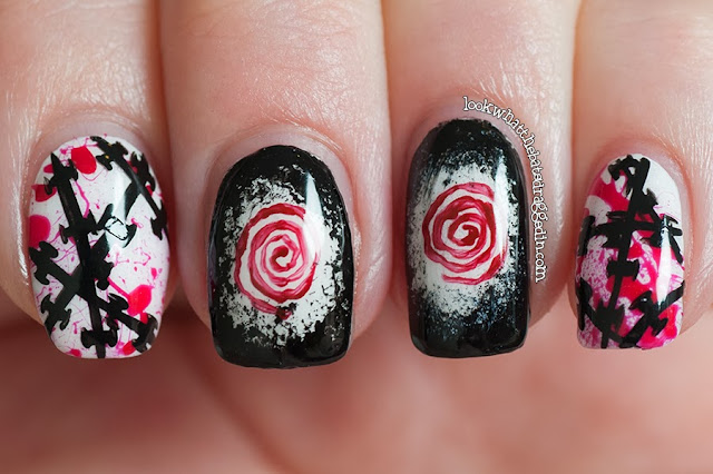 halloween nails nail art horror movies saw spooky blood