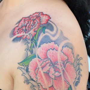 carnation flower tattoo designs