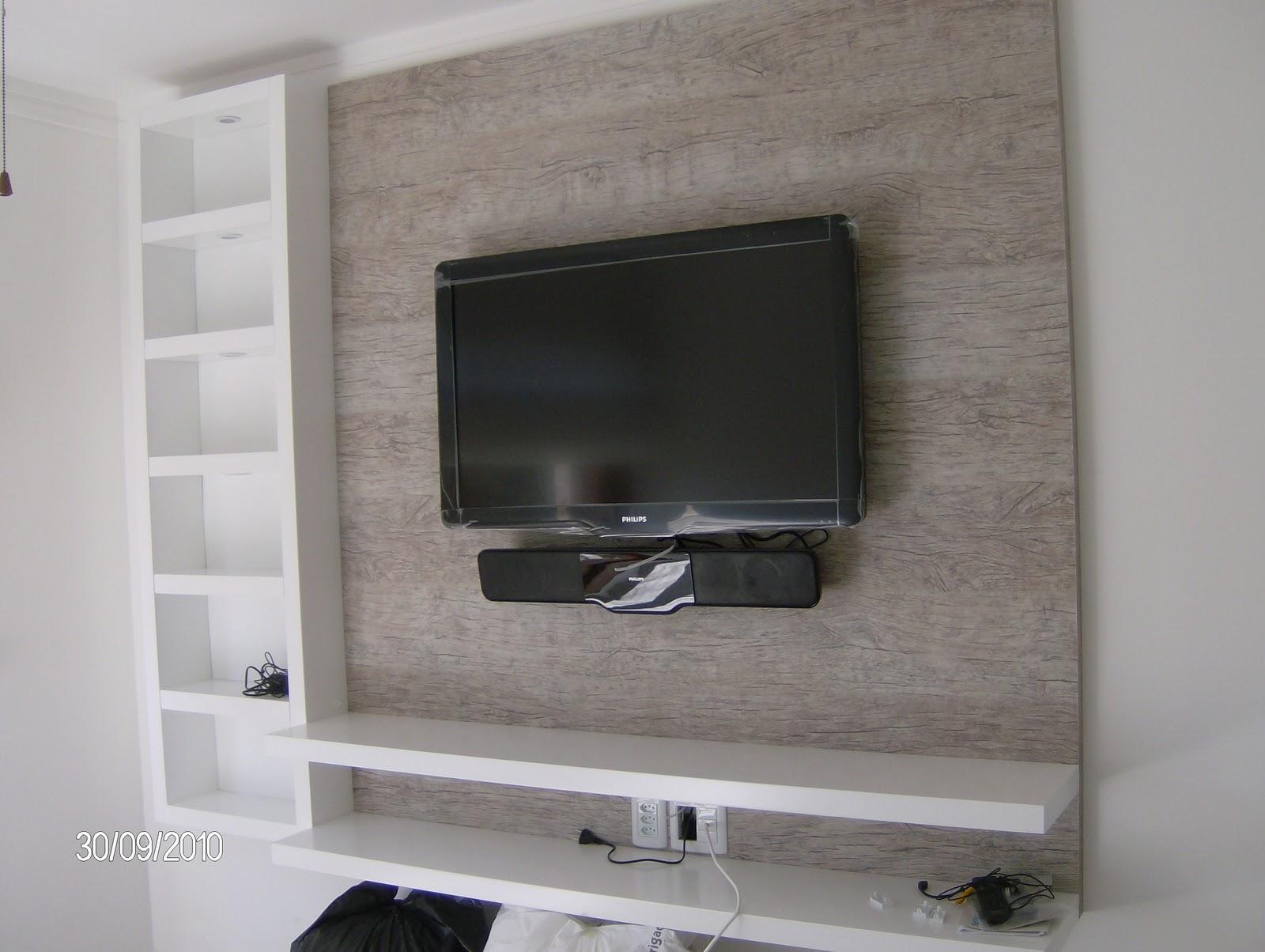 Painel De Tv Para Quarto Com Nicho ~ Painel para TV  Quarto  Decor  Home ?  Pinterest