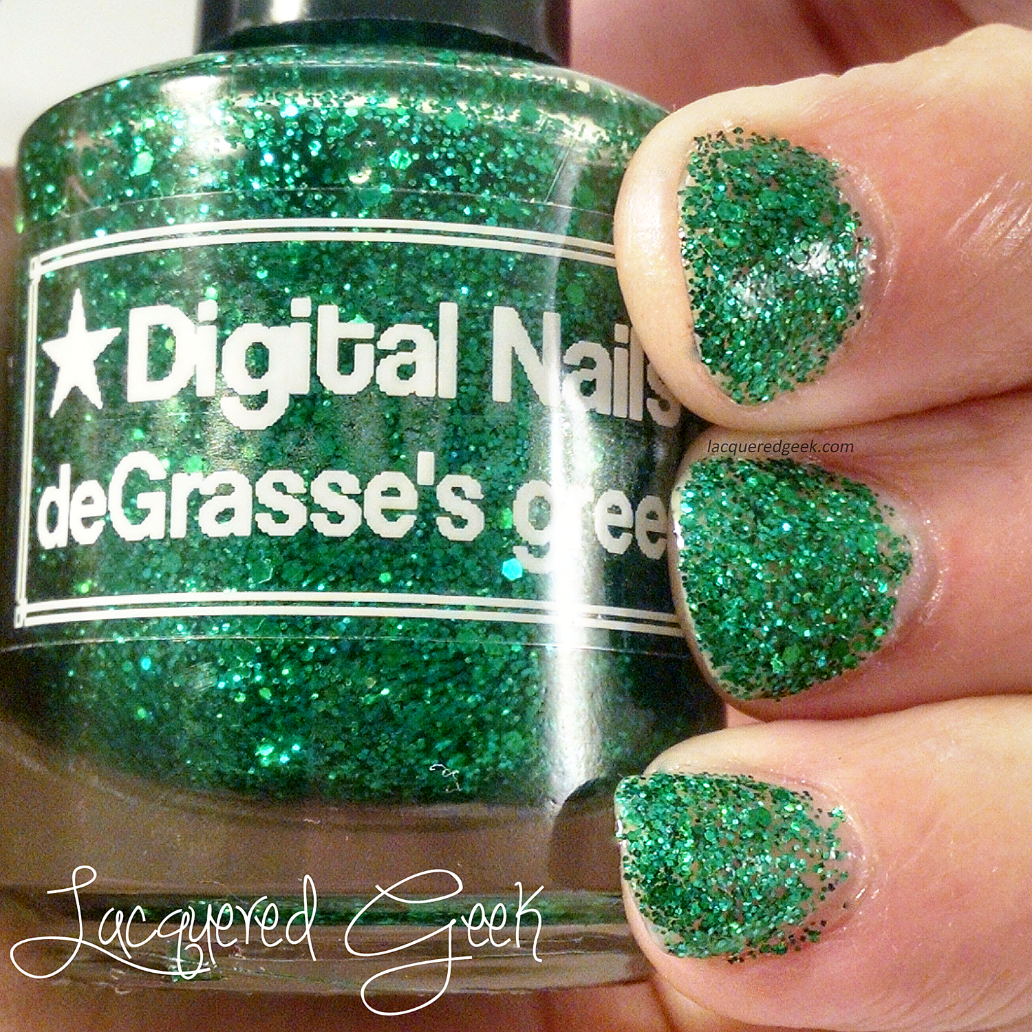 Digital Nails deGrasse's greener nail polish swatch