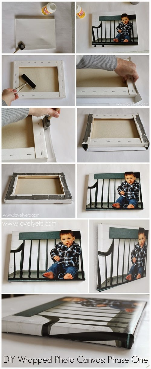 DIY Photo Canvas - That Looks Exactly Like The Real Thing