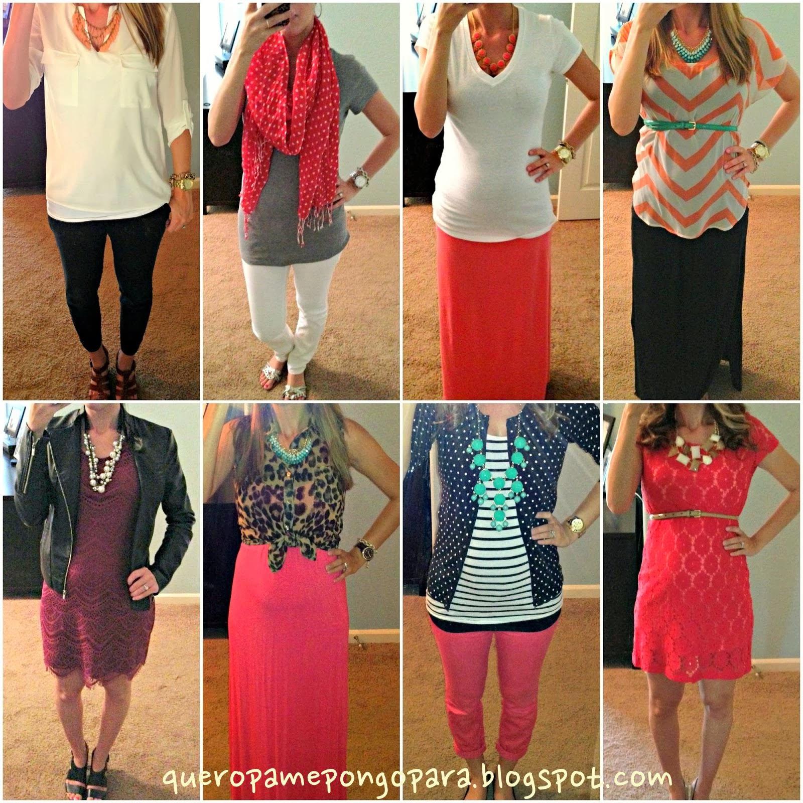 OUTFITS PARA EMBARAZADAS - Que ropa ponerse durante el embarazo