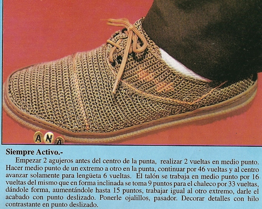 Zapatos a crochet para hombres