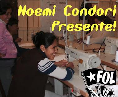 Noemí Condori Presente!