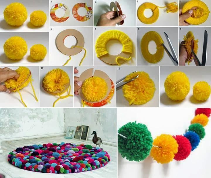 Mille idee casa come realizzare dei pom pom per decorare for Mille idee per la casa