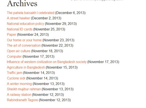 Make an Archive Page showing by title in Blogger