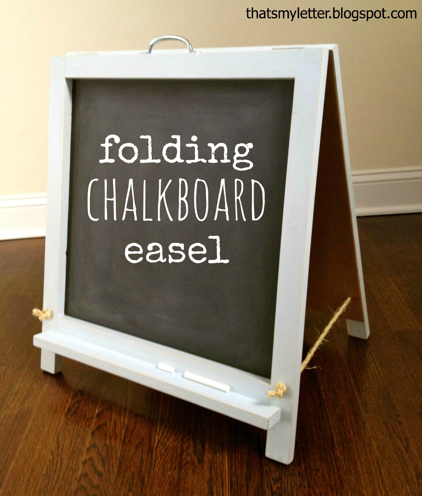 Build your own portable folding double sided chalkboard easel with