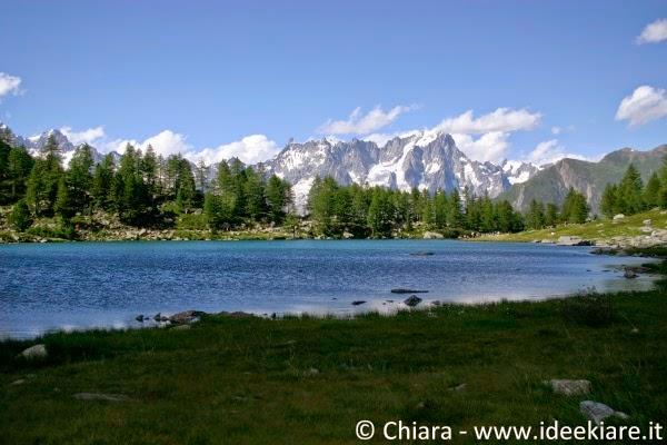 Il lago d'Arpy è facile da raggiungere anche con passeggino al seguito