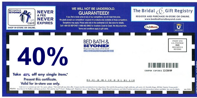 Bed Bath And Beyond Online Coupon For October 2015 Bangdodo