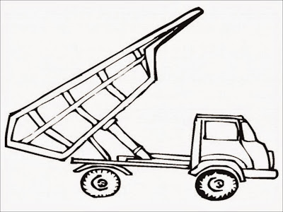 dump truck coloring page preschool