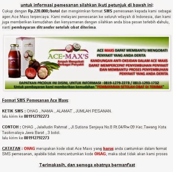 Pemesanan Ace Maxs