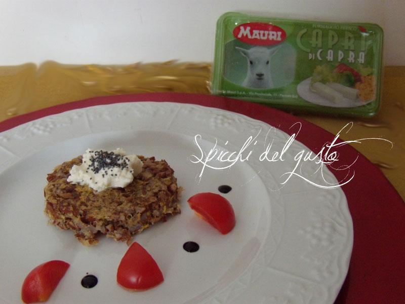 Hamburger di riso rosso selvatico con Caprì mauri