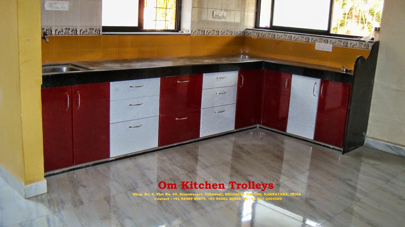 Om Kitchen Trolleys Modular Kitchen Trolleys