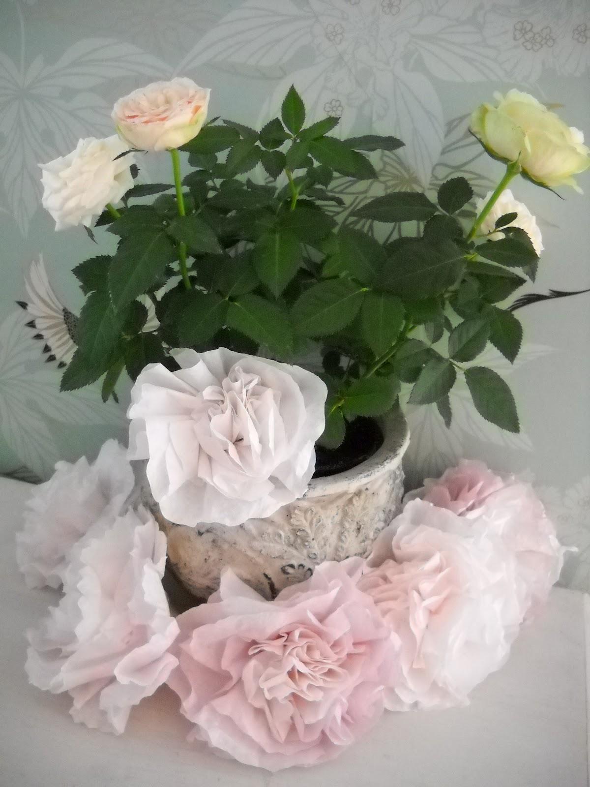 DIY Hochzeit: Tutorial für Papierblumen aus Kaffeefilter