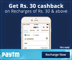 Free Rs.30 Cashback on Mobile Recharge of Rs.30 at Paytm (New User Only) - www.codertrick.com