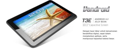 Advan Vandroid T3E, Tablet Android Jelly Bean Plus Fitur TV