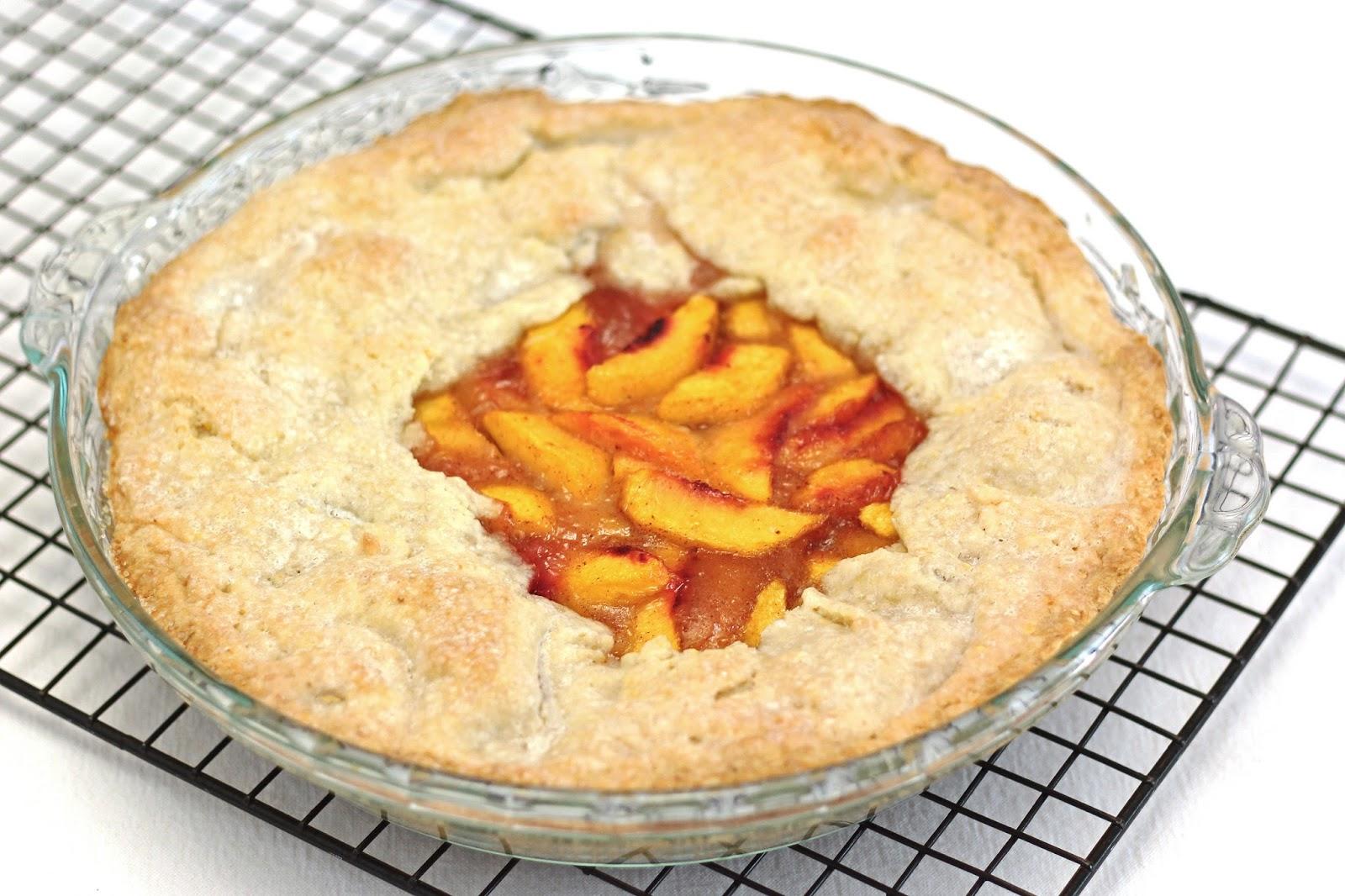 gluten free vegan rustic peach pie - Sarah Bakes Gluten Free