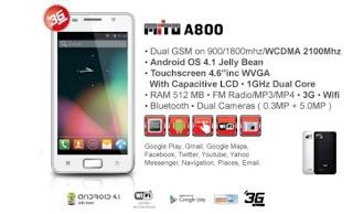 Mito A800 Harga dan Spesifikasi