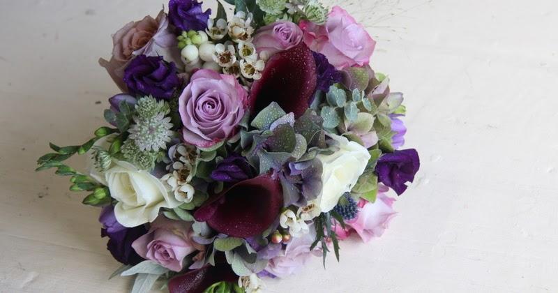 the flower magician seasonal wedding bouquet in purple. Black Bedroom Furniture Sets. Home Design Ideas