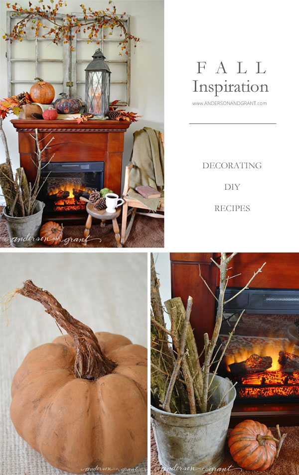 Check out this post filled Fall Inspiration for decorating, diy, and baking from www.andersonandgrant.com