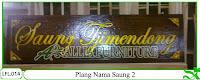 Plang Ukir Nama Saung Klender 2