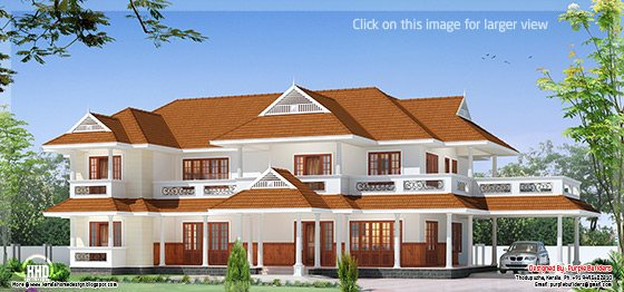 two storey luxury house