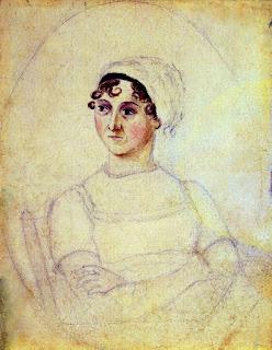 Retrato de Jane Austen supostamente feito por sua irmã Cassandra