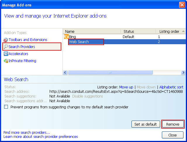 Remove Conduit Search Toolbar from your computer - Norton