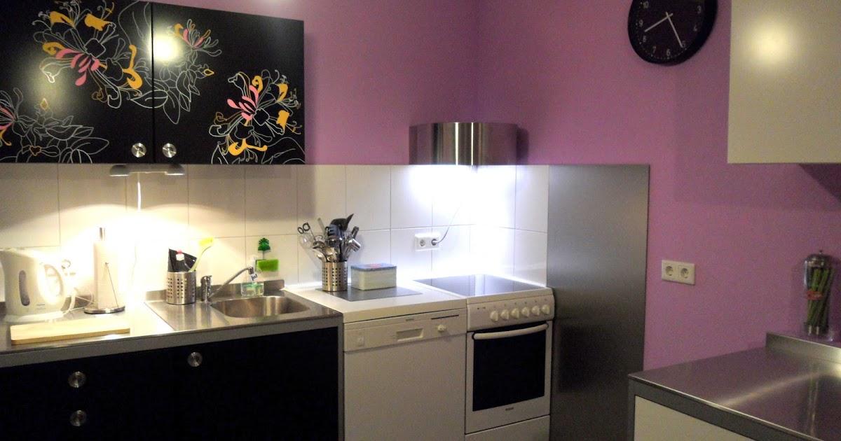 sunshine4life: [DIY] Küchen-Wandpaneel in Edelstahloptik befestigen
