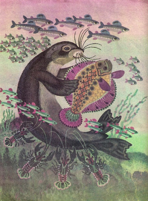 Nivkh folk tale, illustrated book for children, fish, nord,