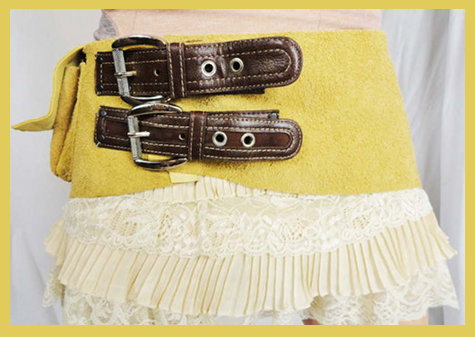Handmade Suede Hip Bag from Royal Peasantry Boutique