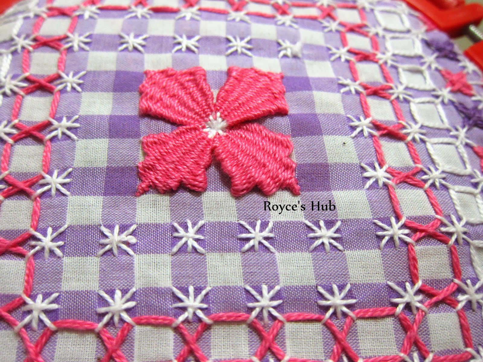 Royce s hub gingham embroidery stitches needle weaving