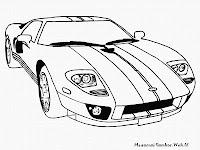 Gambar Mobil Balap Keren Untuk Diwarnai