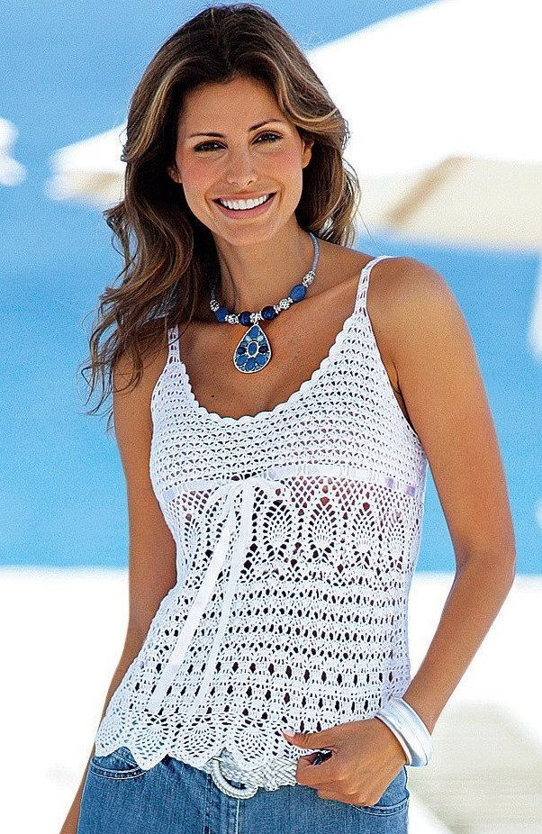 Free Crochet Pattern For Ladies Top : Aprendiendo a tejer: CROCHET - Remera