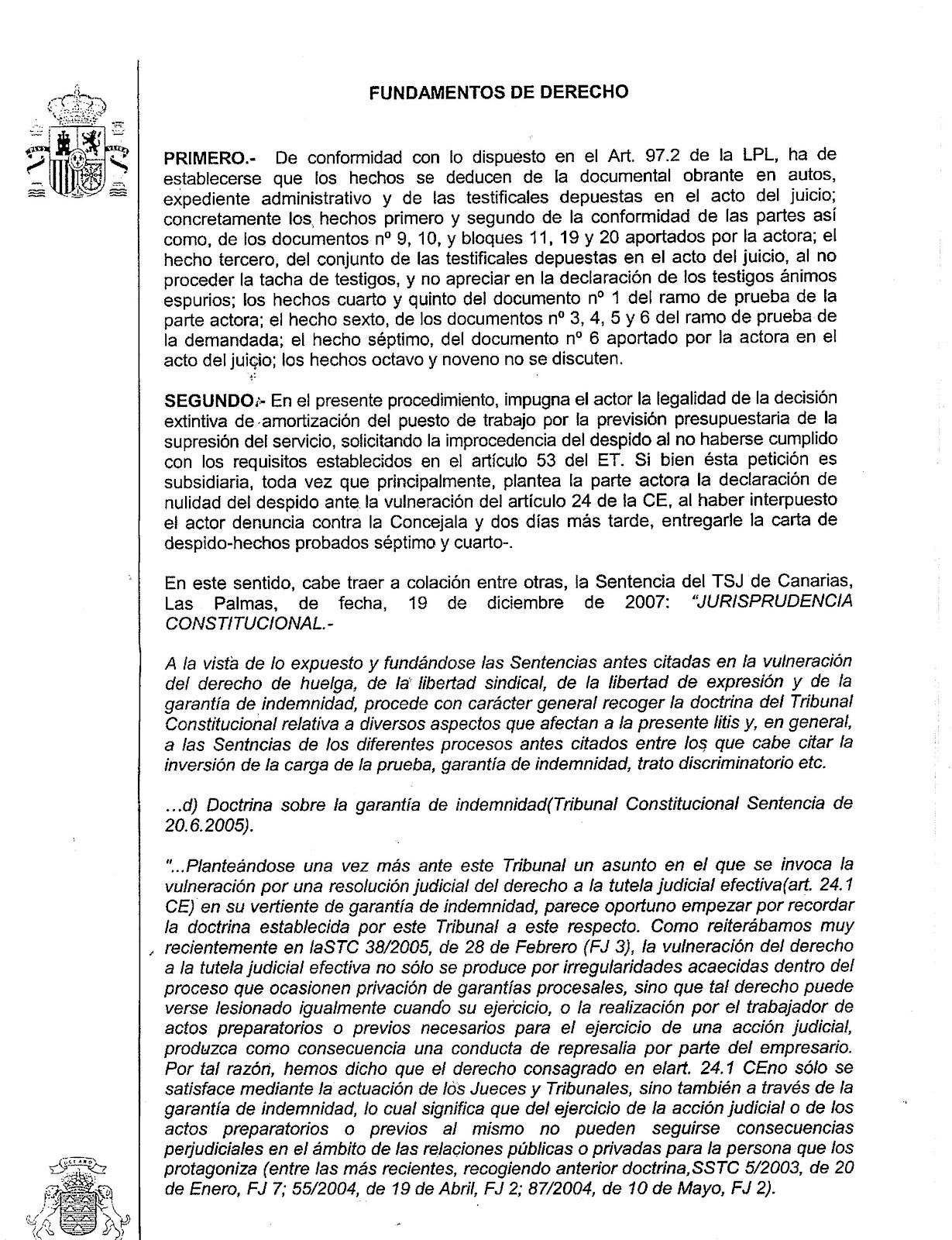 EL DESPIDO DEL VETERINARIO MUNICIPAL DECLARADO POR EL ...