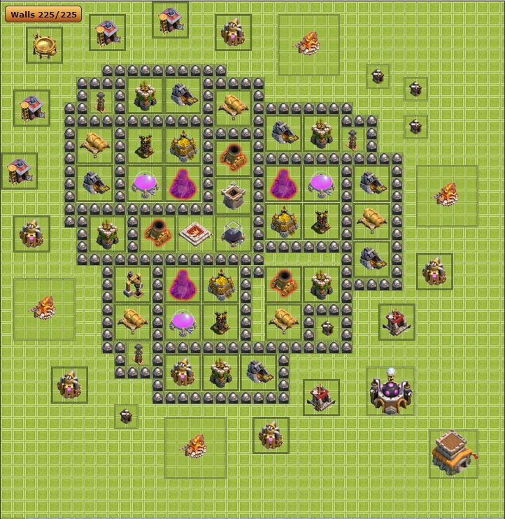 Clash of Clans Th 8 Farming Layout